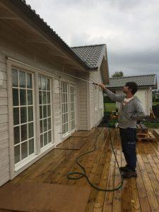Hur länge vänta efter fasadtvätt
